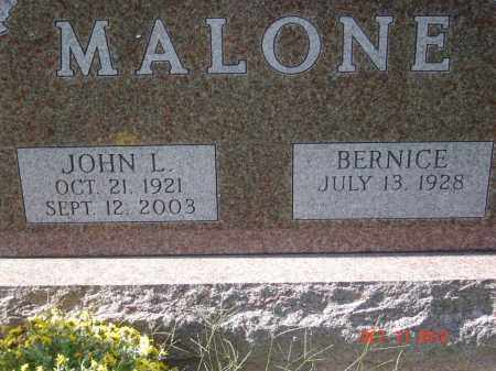 MOON MALONE, BERNICE - Pike County, Ohio | BERNICE MOON MALONE - Ohio Gravestone Photos