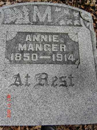 MANGER, ANNIE - Pike County, Ohio | ANNIE MANGER - Ohio Gravestone Photos