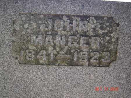 MANGER, JOHN - Pike County, Ohio   JOHN MANGER - Ohio Gravestone Photos
