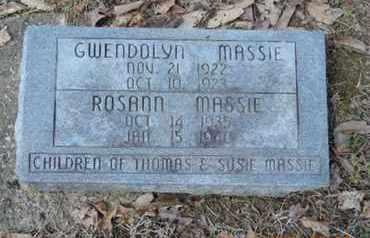 MASSIE, ROSANN - Pike County, Ohio | ROSANN MASSIE - Ohio Gravestone Photos