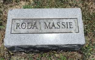 MASSIE, RODA - Pike County, Ohio   RODA MASSIE - Ohio Gravestone Photos
