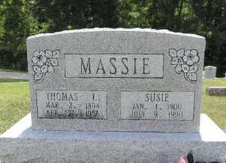 MASSIE, SUSIE - Pike County, Ohio | SUSIE MASSIE - Ohio Gravestone Photos