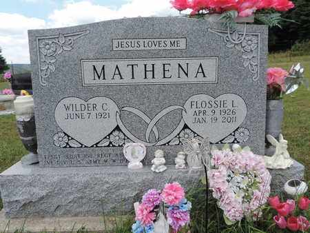 MATHENA, WILDER C. - Pike County, Ohio | WILDER C. MATHENA - Ohio Gravestone Photos