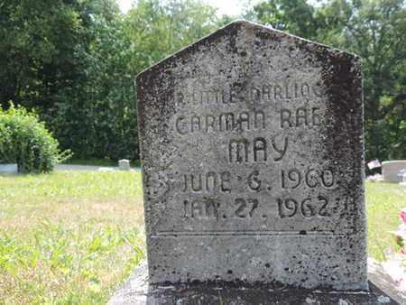 MAY, CARMAN RAE - Pike County, Ohio   CARMAN RAE MAY - Ohio Gravestone Photos