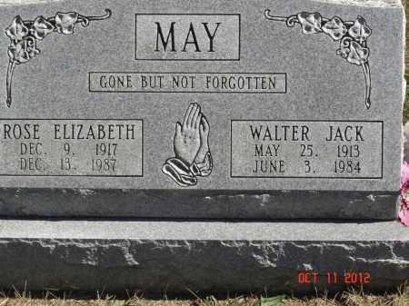 MAY, WALTER JACK - Pike County, Ohio | WALTER JACK MAY - Ohio Gravestone Photos
