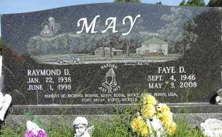 MAY, FAYE D. - Pike County, Ohio   FAYE D. MAY - Ohio Gravestone Photos