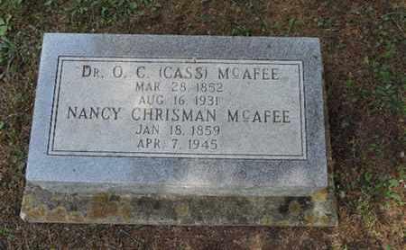 MCAFEE, O.C. - Pike County, Ohio | O.C. MCAFEE - Ohio Gravestone Photos