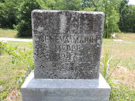 MCBEE, GENEVA MARIE - Pike County, Ohio | GENEVA MARIE MCBEE - Ohio Gravestone Photos