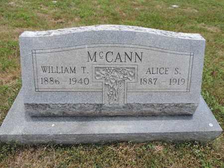 MCCANN, WILLIAM T. - Pike County, Ohio   WILLIAM T. MCCANN - Ohio Gravestone Photos