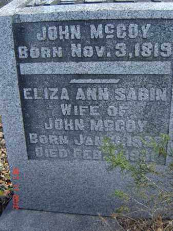 MCCOY, ELIZA - Pike County, Ohio | ELIZA MCCOY - Ohio Gravestone Photos