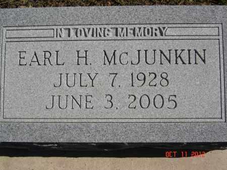 MCJUNKIN, EARL - Pike County, Ohio   EARL MCJUNKIN - Ohio Gravestone Photos