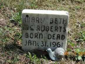 MCROBERS, MARY BETH - Pike County, Ohio | MARY BETH MCROBERS - Ohio Gravestone Photos