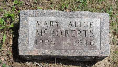 MCROBERTS, MARY ALICE - Pike County, Ohio | MARY ALICE MCROBERTS - Ohio Gravestone Photos