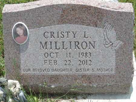 MILLIRON, CRISTY L. - Pike County, Ohio | CRISTY L. MILLIRON - Ohio Gravestone Photos