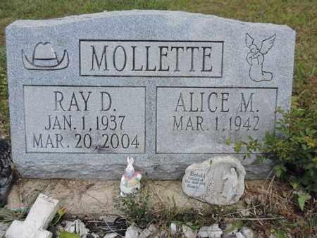 MOLLETTE, RAY D. - Pike County, Ohio | RAY D. MOLLETTE - Ohio Gravestone Photos