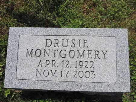 MONTGOMERY, DRUSIE - Pike County, Ohio | DRUSIE MONTGOMERY - Ohio Gravestone Photos