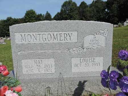 MONTGOMERY, LOUISE - Pike County, Ohio | LOUISE MONTGOMERY - Ohio Gravestone Photos