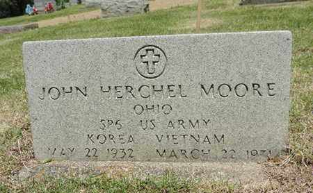 MOORE, JOHN HERCHEL - Pike County, Ohio | JOHN HERCHEL MOORE - Ohio Gravestone Photos