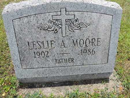 MOORE, LESLIE A. - Pike County, Ohio | LESLIE A. MOORE - Ohio Gravestone Photos