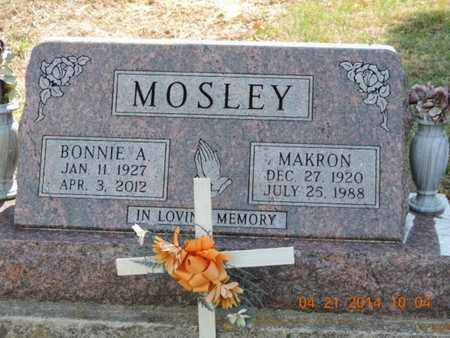 MOSLEY, MAKRON - Pike County, Ohio | MAKRON MOSLEY - Ohio Gravestone Photos