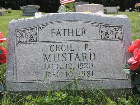 MUSTARD, CECIL P - Pike County, Ohio | CECIL P MUSTARD - Ohio Gravestone Photos
