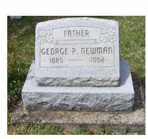 NEWMAN, GEORGE P. - Pike County, Ohio | GEORGE P. NEWMAN - Ohio Gravestone Photos