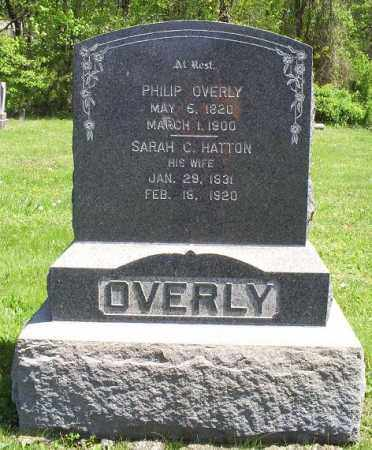 HATTON OVERLY, SARAH C. - Pike County, Ohio | SARAH C. HATTON OVERLY - Ohio Gravestone Photos