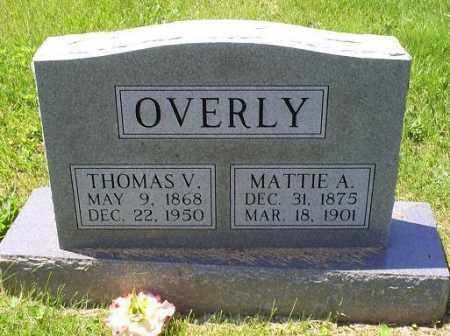 OVERLY, MATTIE A. - Pike County, Ohio   MATTIE A. OVERLY - Ohio Gravestone Photos
