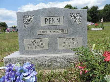 PENN, CLYDENE - Pike County, Ohio | CLYDENE PENN - Ohio Gravestone Photos
