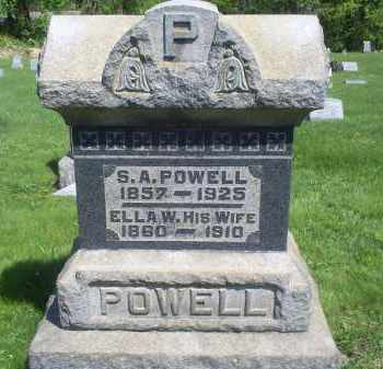 POWELL, S. A. - Pike County, Ohio | S. A. POWELL - Ohio Gravestone Photos
