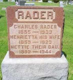 RADER, HENRIETTA - Pike County, Ohio | HENRIETTA RADER - Ohio Gravestone Photos