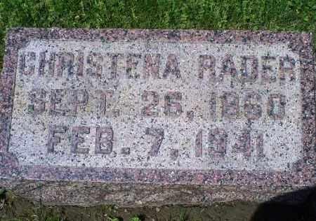 RADER, CHRISTENA - Pike County, Ohio | CHRISTENA RADER - Ohio Gravestone Photos
