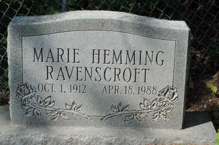 HEMMING RAVENSCROFT, MARIE - Pike County, Ohio | MARIE HEMMING RAVENSCROFT - Ohio Gravestone Photos