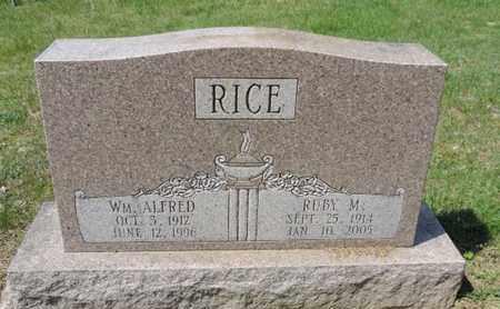 RICE, WM ALFRED - Pike County, Ohio | WM ALFRED RICE - Ohio Gravestone Photos