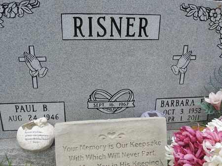 RISNER, BARBARA E - Pike County, Ohio | BARBARA E RISNER - Ohio Gravestone Photos
