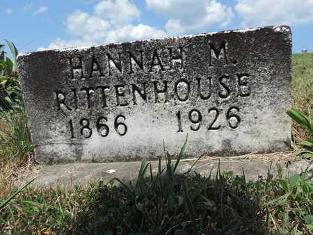 RITTENHOUSE, HANNAH M. - Pike County, Ohio | HANNAH M. RITTENHOUSE - Ohio Gravestone Photos