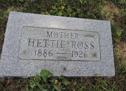 ROSS, HETTIE - Pike County, Ohio   HETTIE ROSS - Ohio Gravestone Photos