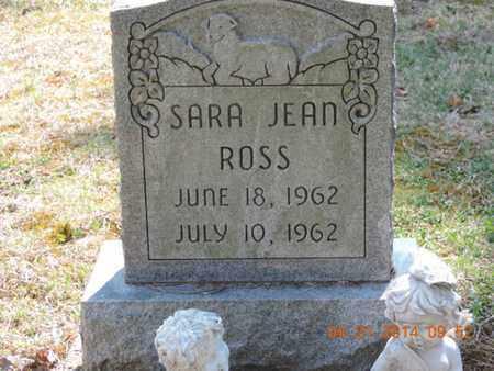ROSS, SARA JEAN - Pike County, Ohio | SARA JEAN ROSS - Ohio Gravestone Photos