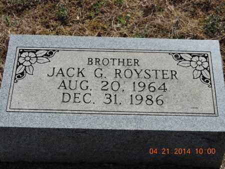 ROYSTER, JACK G - Pike County, Ohio   JACK G ROYSTER - Ohio Gravestone Photos