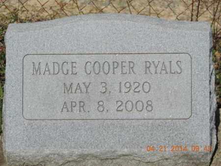 RYALS, MADGE - Pike County, Ohio | MADGE RYALS - Ohio Gravestone Photos