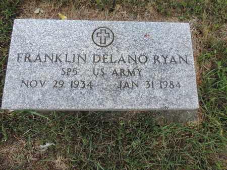 RYAN, FRANKLIN DELANO - Pike County, Ohio | FRANKLIN DELANO RYAN - Ohio Gravestone Photos