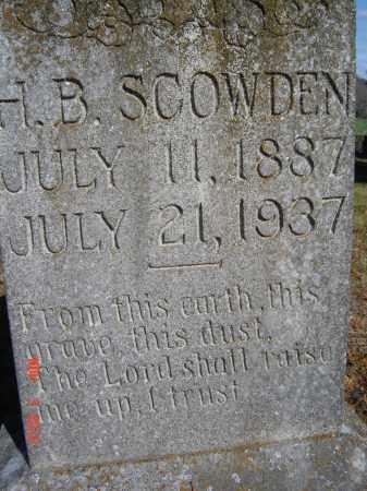 SCOWDEN, H. B. - Pike County, Ohio   H. B. SCOWDEN - Ohio Gravestone Photos