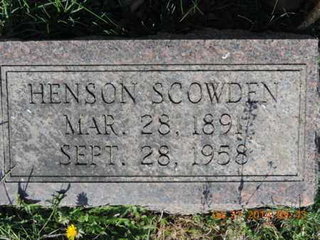 SCOWDEN, HENSON - Pike County, Ohio | HENSON SCOWDEN - Ohio Gravestone Photos
