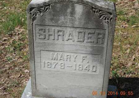 SHRADER, MARY F. - Pike County, Ohio   MARY F. SHRADER - Ohio Gravestone Photos