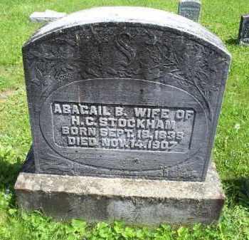 STOCKHAM, ABAGAIL B. - Pike County, Ohio | ABAGAIL B. STOCKHAM - Ohio Gravestone Photos