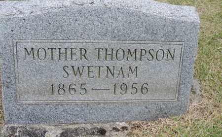 SWETNAM, MOTHER - Pike County, Ohio | MOTHER SWETNAM - Ohio Gravestone Photos