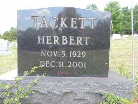 TACKETT, HERBERT - Pike County, Ohio | HERBERT TACKETT - Ohio Gravestone Photos