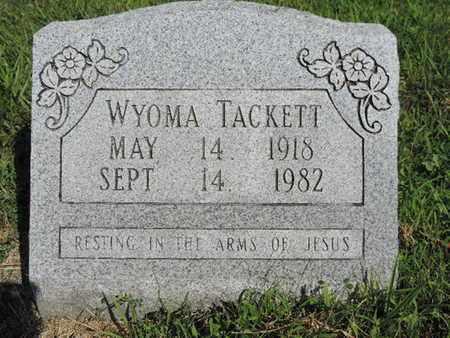 TACKETT, WYOMA - Pike County, Ohio | WYOMA TACKETT - Ohio Gravestone Photos