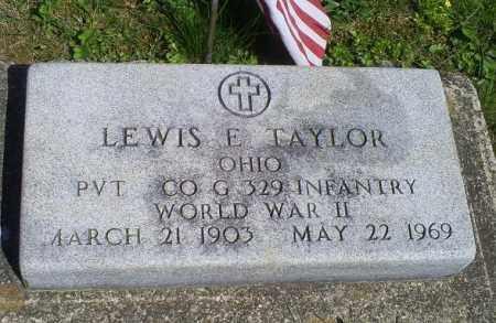 TAYLOR, LEWIS E. - Pike County, Ohio   LEWIS E. TAYLOR - Ohio Gravestone Photos