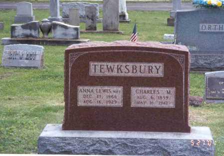 LEWIS TEWKSBURY, ANNA - Pike County, Ohio | ANNA LEWIS TEWKSBURY - Ohio Gravestone Photos